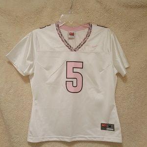 Make Offer! NIKE 5 white pink mesh sports vneck